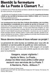 Grève à la Poste de Clamart